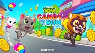 Mèo Tom bắt chú chồn nâu trộm kẹo trong siêu thị - cu lỳ chơi game tom candy run