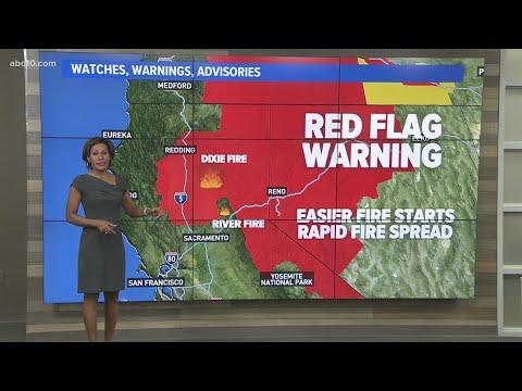 Fire Weather Conditions: Dixie and River Fire | August 5, 2021