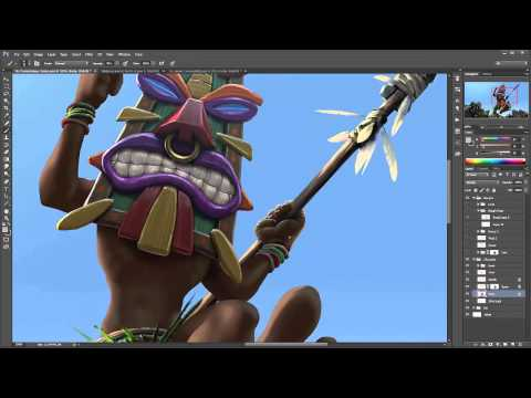 Tiki Galore speed paint 4hourIn5min