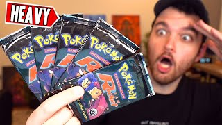 I OPENED FIVE *HEAVY* 1st EDITION TEAM ROCKET PACKS FOR 100,000 SUBSCRIBERS...