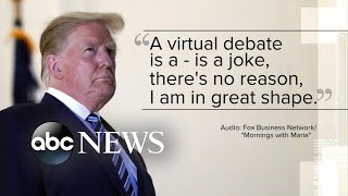 President Trump rejects 'virtual' presidential debate amid COVID-19 battle | WNT