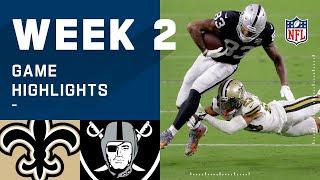 Saints vs. Raiders Week 2 Highlights | NFL 2020