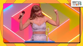 Taylor Swift wins BRITs Global Icon | The BRIT Awards 2021