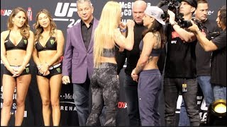 CO-MAIN! - HOLLY HOLM v RAQUEL PENNINGTON (FULL) WEIGH-IN / LAS VEGAS / UFC 246 / McGREGOR-CERRONE