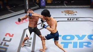 John Lineker vs. Bruce Lee (EA Sports UFC 2) - CPU vs. CPU