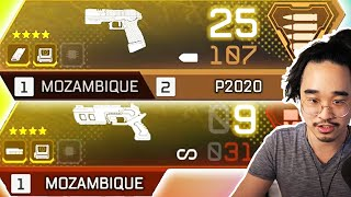 the *NEW* MEGA-BUFFED P2020 and MOZAMBIQUE!! (Apex Legends)