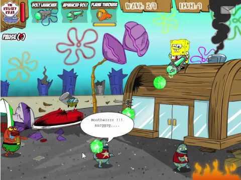Губкак Боб против рыб Зомби игра