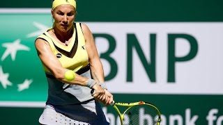 WTA R16 Highlights: Kuznetsova Vs. Garcia