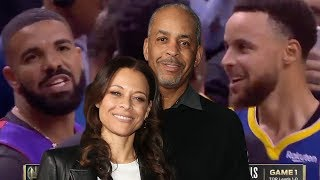Sonya Curry Reacts To Drake's TROLLING By Wearing Dell Curry's Throwback Raptors Jersey