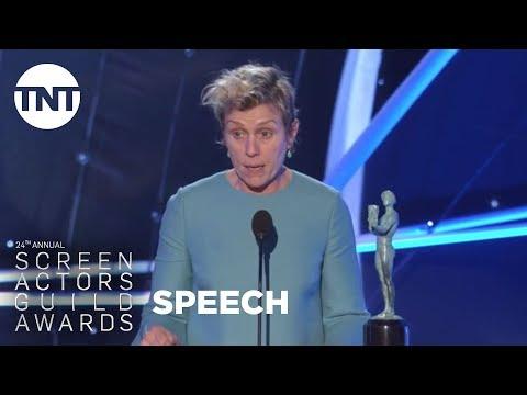 Frances McDormand: Acceptance Speech   24th Annual SAG Awards   TNT