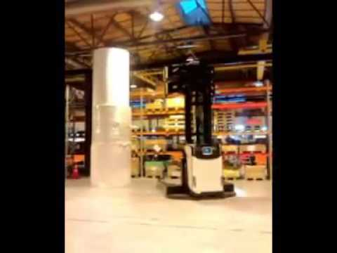 Cascade Paper Roll Clamp, PRC on AGV, Automated Guided Vehicle