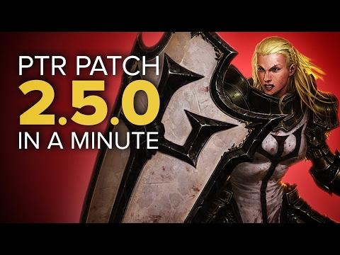 Diablo 3 PTR Patch 2.5.0 in a Minute