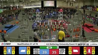Kettering University #2 Qualification Match 61