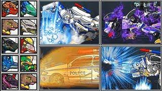 Dino Robot Battle Arena | T-Rex Cops - Full Game Play