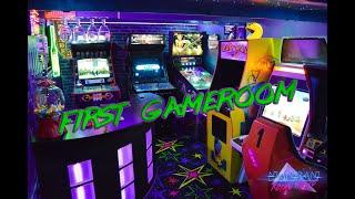 Part II - Retro Wave 80's /Arcade / Gameroom Tour / Mancave / Basement / Walkthrough / Dragon's Lair