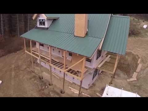 Aerial Tour-Hybrid/Timber Frame Home