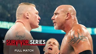 FULL MATCH: Goldberg vs. Brock Lesnar: Survivor Series 2016