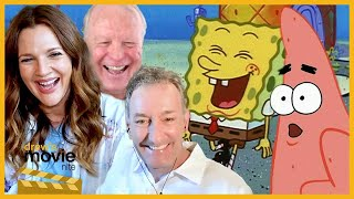 Drew Barrymore Talks Humor, Heart and Keanu Reeves with SpongeBob's Tom Kenny and Bill Fagerbakke