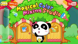 Magic Paint & Coloring Learn Shapes - Baby Learn Colors Shapes with Little Panda Color Mixing