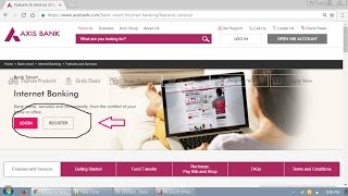 Axis Banking Internet Banking Register Step By Step
