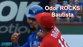 Rougned Odor punches José Bautista in the face, a breakdown