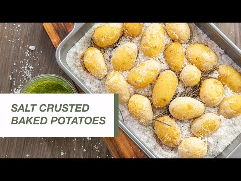 Salt Crusted Baked Potatoes | Food Channel L Recipes