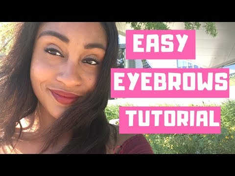 Easy Eyebrow Tutorial - Perfect Eyebrows