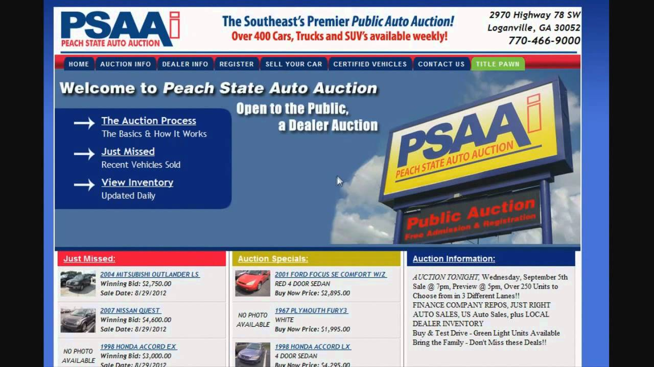 find used cars at public auto auctions atlanta ga youtube. Black Bedroom Furniture Sets. Home Design Ideas