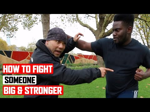 How to fight someone bigger and stronger than you ✅  lesson 3