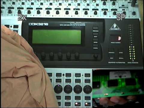 Teste Display Behringer DDX3216 Sr Bonini
