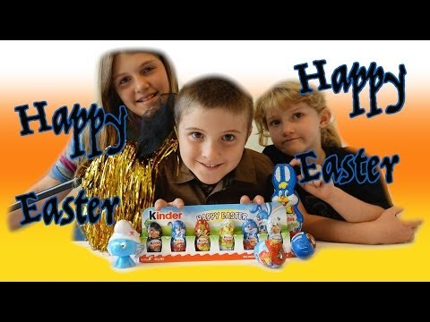 MAGICAL Easter Kinder Surprise Egg COUNTING & Reveal Inc Disney Mickey Mouse Donald Duck & Smurfs - Smashpipe entertainment