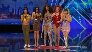 America's Got Talent 2016 The Spice Gurlz Lipsyncing Group Full Audition Clip S11E01