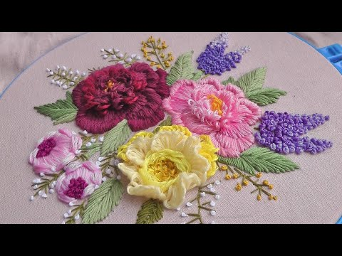 Flower still life | Hand Embroidery | Amazing Embroidery