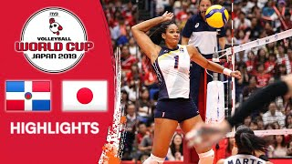 DOMINICAN REPUBLIC vs. JAPAN - Highlights   Women's Volleyball World Cup 2019