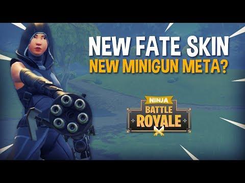 14 Frag Win NEW FATE Skin NEW Minigun Meta? - Fortnite Battle Royale Gameplay - Ninja