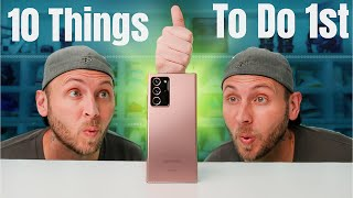 Galaxy Note 20 Ultra Unboxing and First 10 Things To Do!
