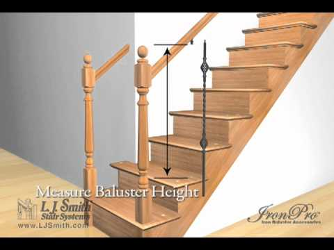 L J Smith Ironpro Iron Baluster Fasteners Video Youtube