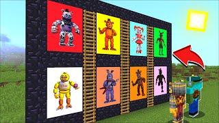 Minecraft FORBIDDEN FIVE NIGHTS AT FREDDYS PORTAL MOD / DON'T ENTER DANGEROUS MOBS !! Minecraft Mods