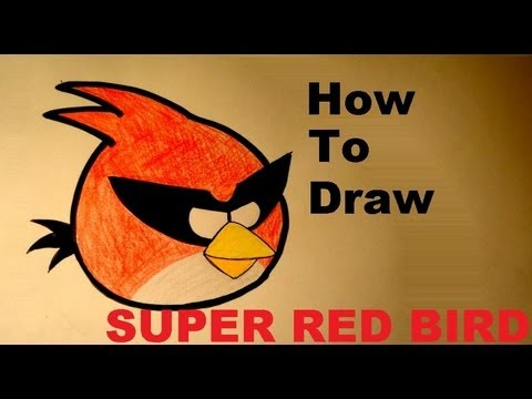 How to draw a angry bird space