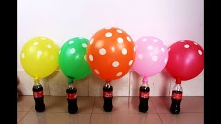 Learn color with balloon for kids / Learn color with balloon and coke