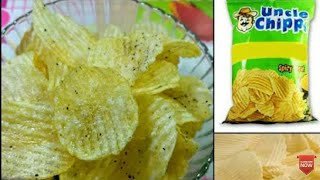 Potato Chips Recipe - How to make potato chips at home Uncle Chips / Lays / Wafers/Snacks/For kids