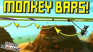 MONKEY BAR MACHINES OVER CANYON!  - Scrap Mechanic Multiplayer Monday! Ep 74