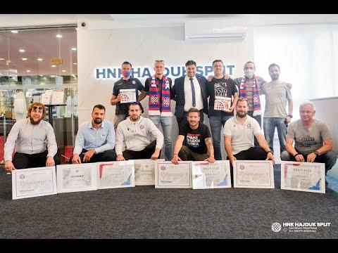 Dodjela priznanja Društvima prijatelja Hajduka za 2020. godinu