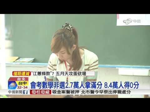 """會考成績單公布! 英數""""待加強C""""破3成│中視新聞 20160603"""
