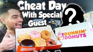 RELAXED CHEAT DAY   FIRST TIME TRYING DUNKIN DONUTS   MANvsFOOD