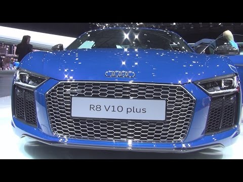 Audi R8 V10 Plus Coupe 5.2 FSI S Tronic Quattro 449 kW (2016) Exterior and Interior in 3D