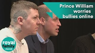 Prince William says he worries about girls being bullied online