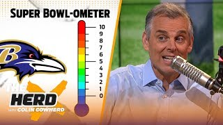 Colin Cowherd reveals his 'Super Bowl-OMeter' for remaining playoff teams | NFL | THE HERD