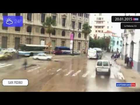 Driving through La Habana (Cuba) from Desemperados to San Pedro 20.01.2015 Timelapse x4