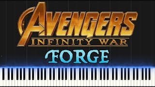 Avengers: Infinity War - Forge (Piano Tutorial Synthesia)